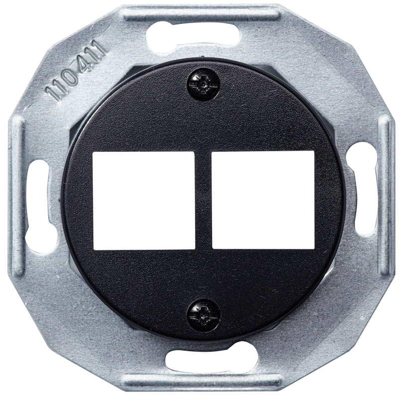 Renova juodas kompiuterinio lizdo dangtelis 2x RJ45 - 1 - 11,05€