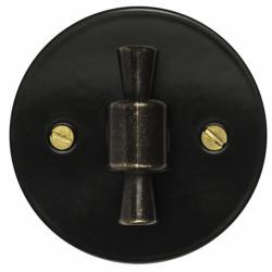Retro jungiklio juodas dangtelis su rankenėle 1