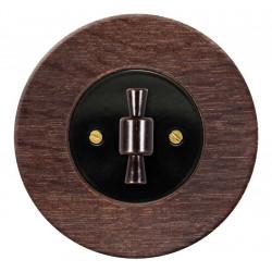 Juodas sukamojo jungiklio dangtelis su rankenėle - 24 - 14,81€
