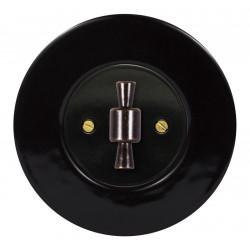 Juodas sukamojo jungiklio dangtelis su rankenėle - 26 - 14,81€