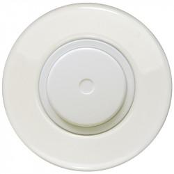 Baltas dimerio dangtelis su ratuku ir baltu keraminiu rėmeliu