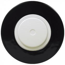 Baltas dimerio dangtelis su ratuku ir juodu keraminiu rėmeliu
