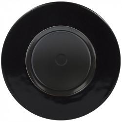 Juodas dimerio dangtelis su ratuku ir juodu keraminiu rėmeliu