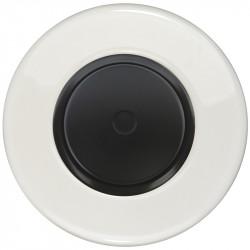 Juodas dimerio dangtelis su ratuku ir baltu keraminiu rėmeliu
