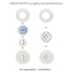 Baltas elektros lizdas su vaikų apsauga - 8 - 10,87€