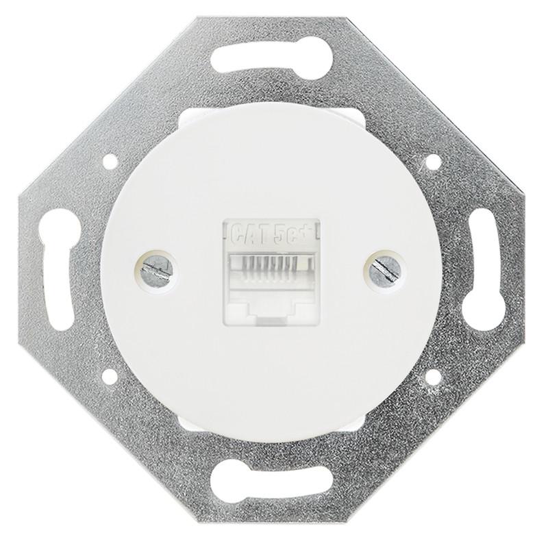 OBZOR Retro kompiuterinis baltas lizdas