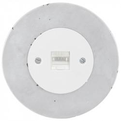 OBZOR Retro kompiuterinis baltas lizdas su betono rėmeliu