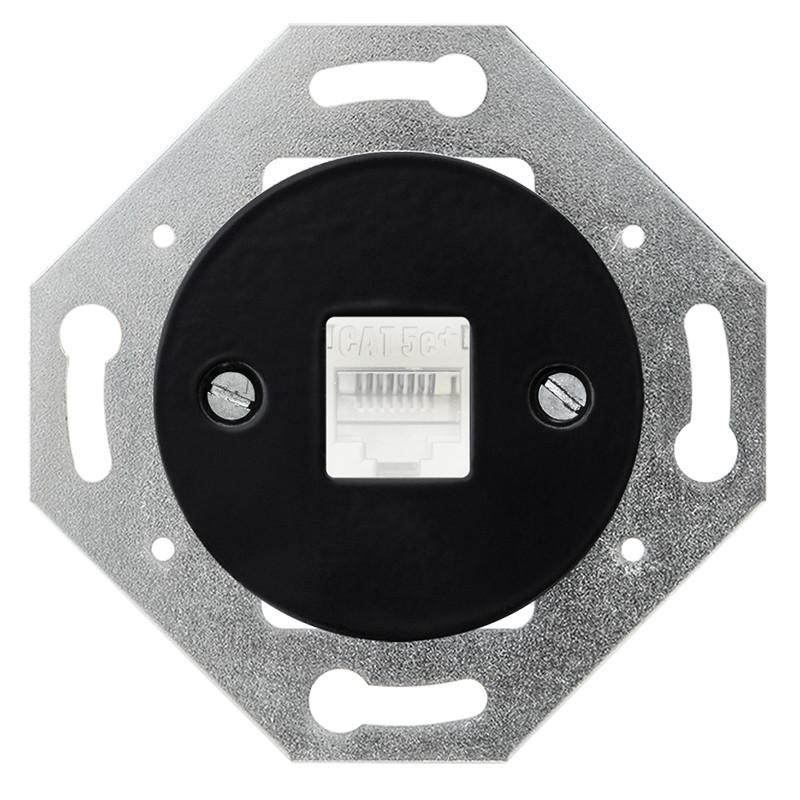 OBZOR Retro kompiuterinis juodas lizdas
