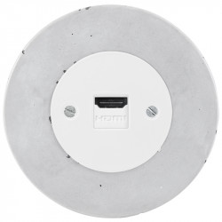 Baltas OBZOR HDMI lizdas su betono rėmeliu