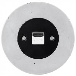 OBZOR RETRO juodas HDMI lizdas su betono rėmeliu