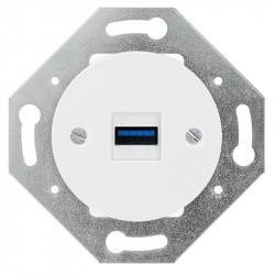 OBZOR RETRO baltas USB lizdas su krovimo funkcija
