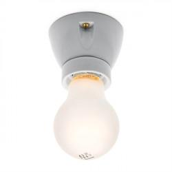 Lubinis keraminis lemputės lizdas, šviečia