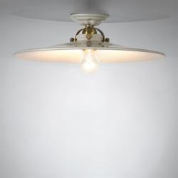 Lubinis retro šviestuvas keraminiu reflektoriumi su lempute