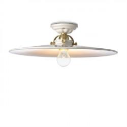 Lubinis retro šviestuvas keraminiu reflektoriumi šviečia