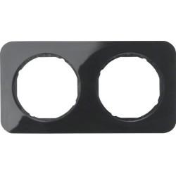 Berker R.1 dvivietis rėmelis plastikinis juodas