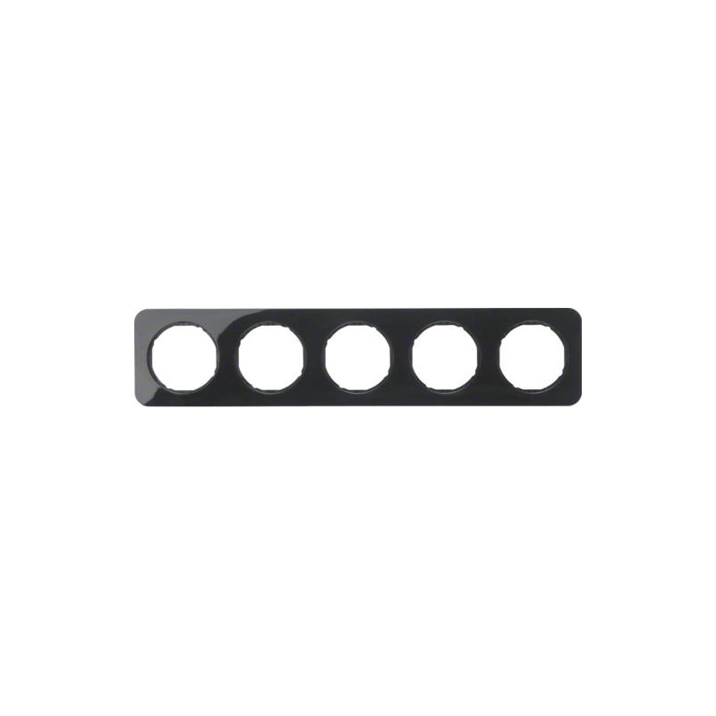 Berker R.1 penkiavietis rėmelis plastikinis juodas