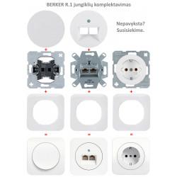 Elektros lizdas Berker R.1/R.3 - 13 - 7,93€