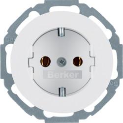 Berker R.1 baltas elektros lizdas pasukamas 45 kampu