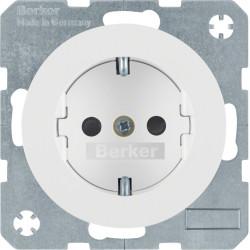 Berker R.1 baltas elektros lizdas su vaikų apsauga