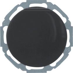 Berker R.1 juodas elektros lizdas pasukamas 45 kampu su dangteliu
