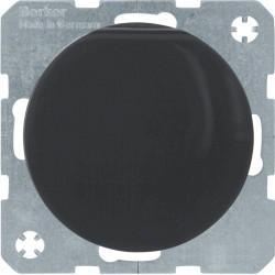 Berker R.1 juodas elektros lizdas su dangteliu