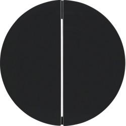 Berker R.1 dvigubas juodas jungiklio klavišas