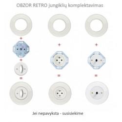 Baltas svirtelinis dviejų grupių jungiklis - 26 - 23,47€