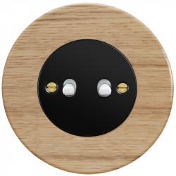 Juodas svirtelinis dviejų grupių jungiklis - 4 - 23,47€