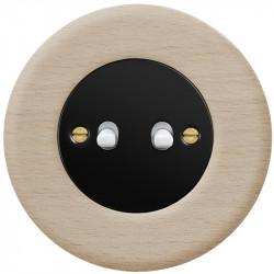 Juodas svirtelinis dviejų grupių jungiklis - 3 - 23,47€