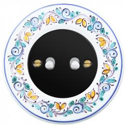 Juodas svirtelinis dviejų grupių jungiklis - 7 - 23,47€