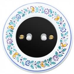 Juodas svirtelinis dviejų grupių jungiklis - 8 - 23,47€