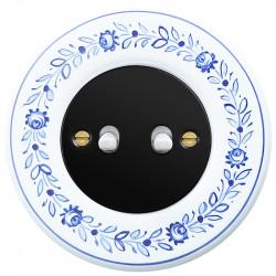 Juodas svirtelinis dviejų grupių jungiklis - 9 - 23,47€