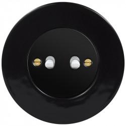 Juodas svirtelinis dviejų grupių jungiklis - 2 - 23,47€
