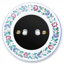 Juodas svirtelinis dviejų grupių jungiklis - 10 - 23,47€