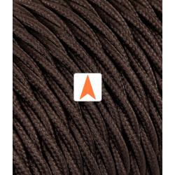 Rudas pintas tekstilinis laidas