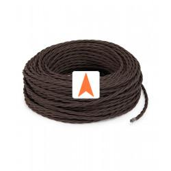 Rudas pintas tekstilinis kabelis