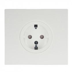 OBZOR VECTIS baltas elektros kištukinis lizdas - rozetė su baltu rėmeliu
