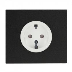 OBZOR VECTIS baltas elektros kištukinis lizdas - rozetė su juodu rėmeliu
