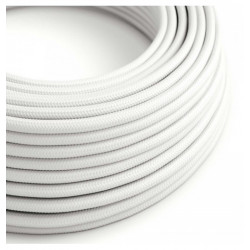 Baltas tekstilinis kabelis