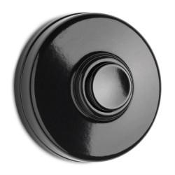 Durų skambučio mygtukas, juoda centrinė dalis