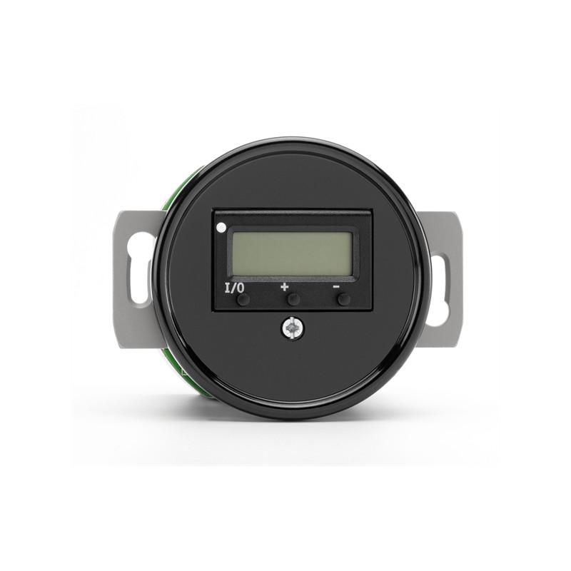 Juodas THPG bakelito šildomų grindų termostatas be rėmelio