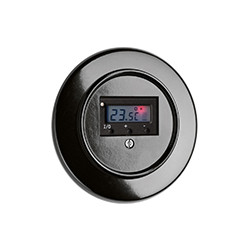 THPG bakelito šildomų grindų termostatas su apvaliu rėmeliu