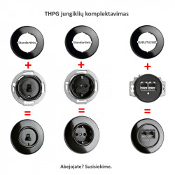Sukamasis jungiklis iš porceliano - 6 - 46,00€
