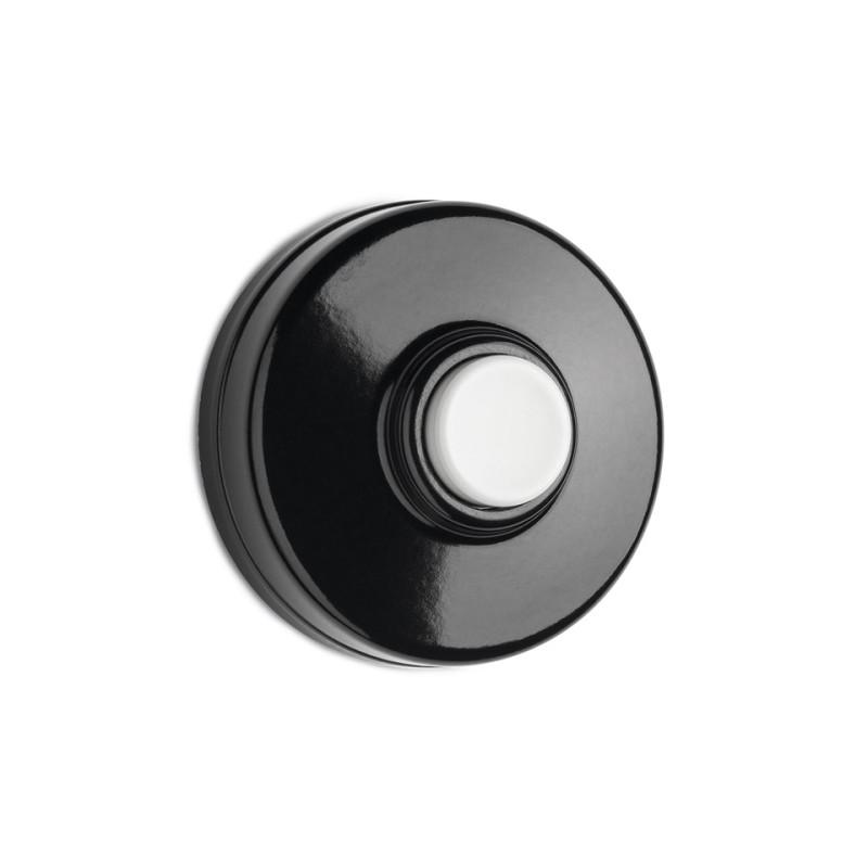 Durų skambučio mygtukas, balta centrinė dalis