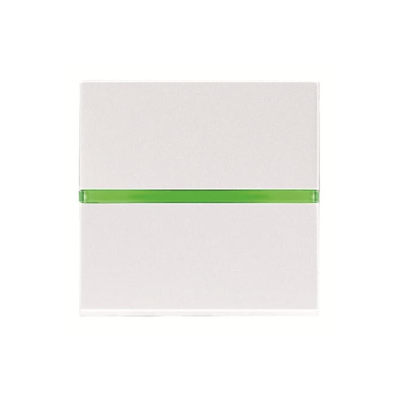 ABB Niessen Zenit žaliuzių jungiklis kryžminis perjungiklis mygtukas platus baltas su pašvietimu