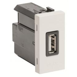 ABB Niessen Zenit USB lizdas rozetė pakrovėjas baltas