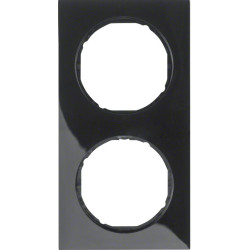 Berker R.3 juodas dvivietis rėmelis