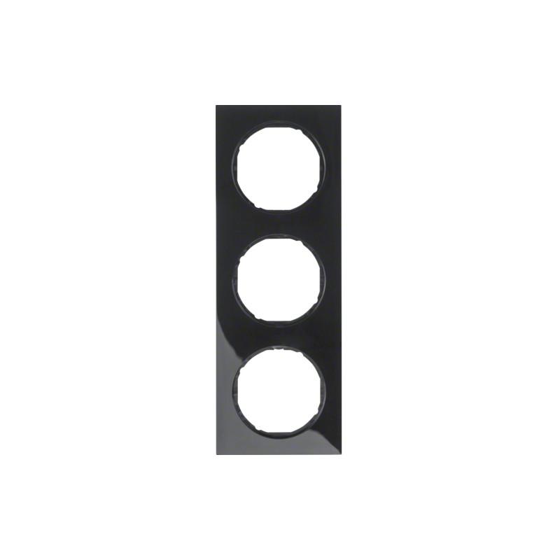 Berker R.3 juodas trivietis rėmelis