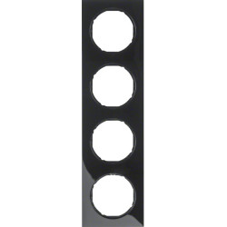 Berker R.3 juodas keturvietis rėmelis
