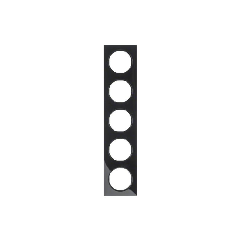 Berker R.3 juodas penkiavietis rėmelis